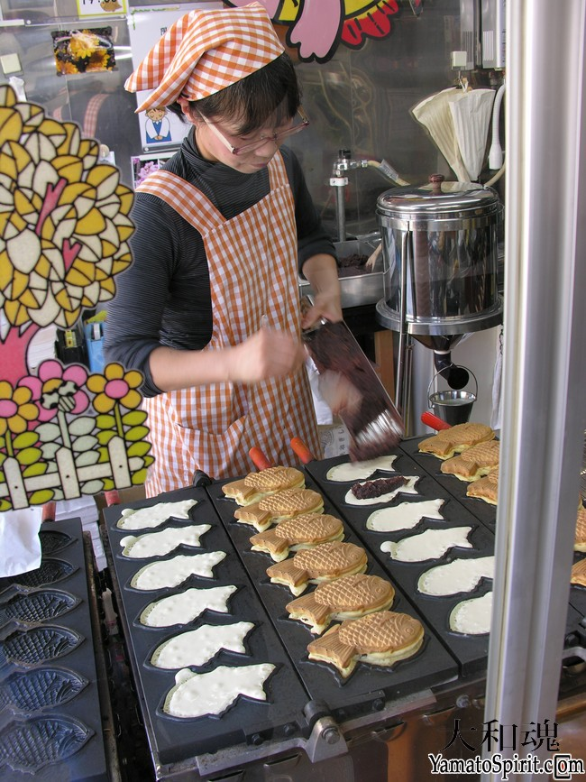 Negishi Taiyaki makes fresh taiyaki every day.