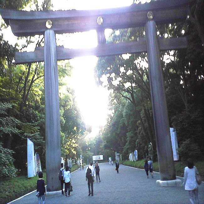 Spiritual enclave of the Emperor Meiji dynasty