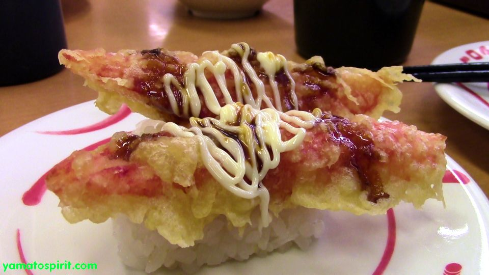 imitation crab grilled with mayo (kanikama)