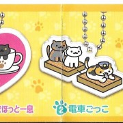 Maromayu,neko-atsume,mini-key chain